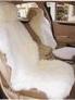 Меховые накидки на передние сидения (2 шт.) Jolly LUX белые