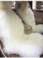 Меховые накидки на передние сидения (2 шт.) Jolly EXTRA белые