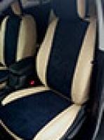 Авточехлы на Nissan Pathfinder 5м Экокожа+Алькантара (замша)